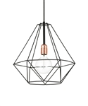 Lampa Diamond, czarna